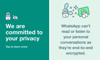 whatsapp posts status reassuring privacy commitment after new privacy update