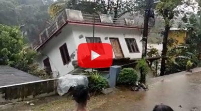 House washed away amid heavy rains in Mundakayam